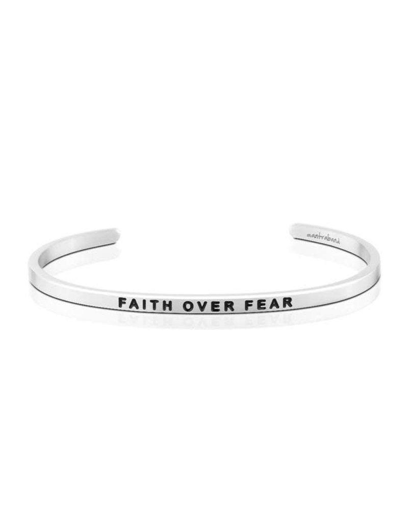 MantraBand Bracelet Faith Over Fear- Silver
