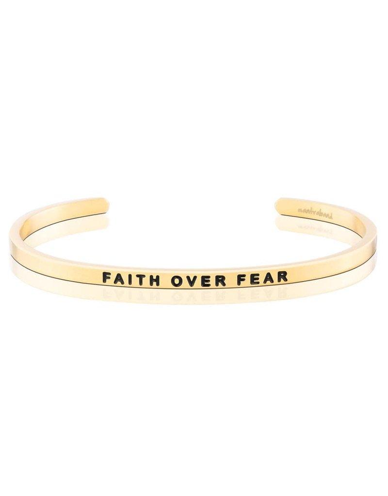 MantraBand Bracelet Faith Over Fear- Gold