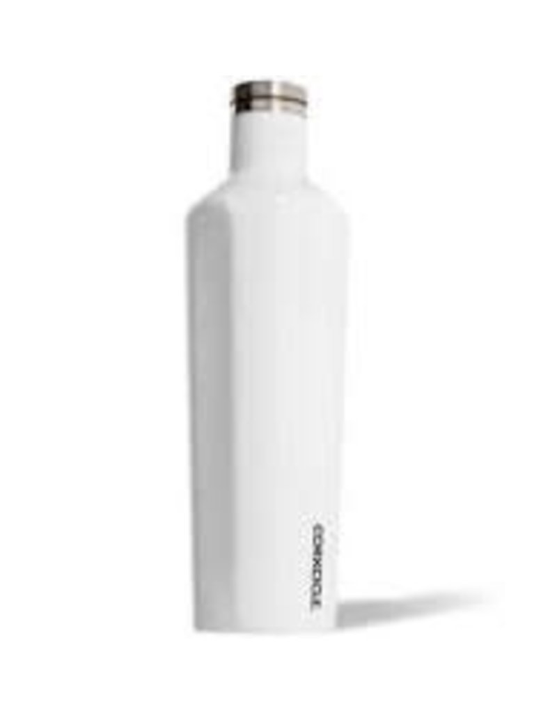 Corkcicle Corkcicle Canteen- 25oz Gloss White