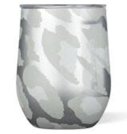 Corkcicle Corkcicle Stemless Wine Glass- 12oz Snow Leopard