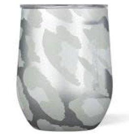 Corkcicle Stemless Wine Glass- 12oz Snow Leopard