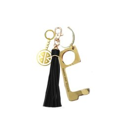 Pieces of Me Touchless Tassle Keychain Black