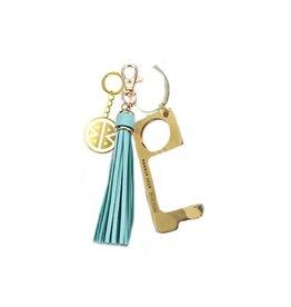 Pieces of Me Touchless Tassle Keychain Aqua