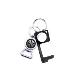 Pieces of Me Touchless Keychain Bottle Opener Black