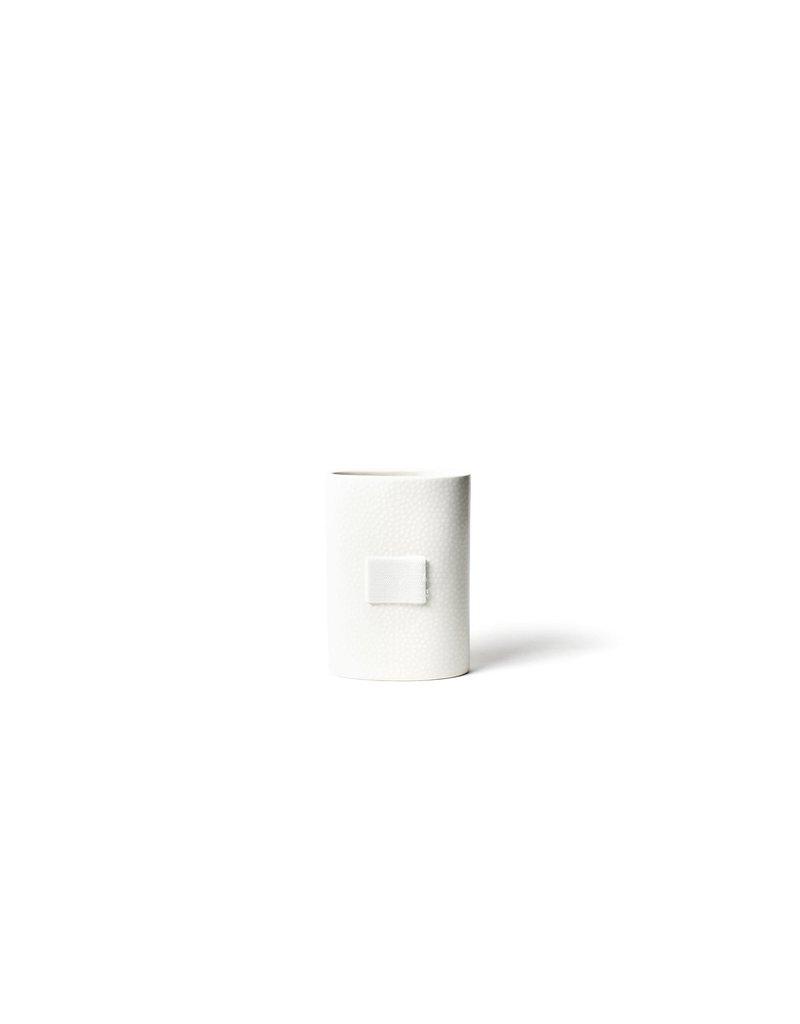Happy Everything Mini Oval Vase White Sm Dot