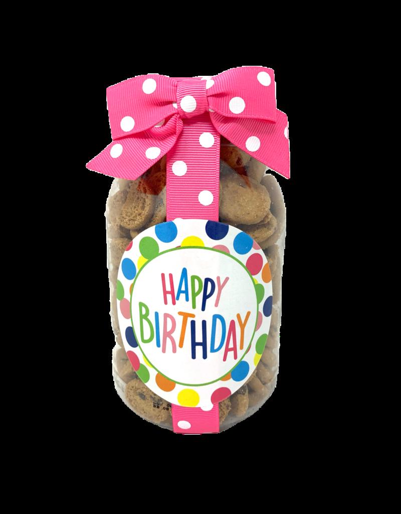 Oh Sugar 10oz NB Jar Happy Birthday Polka Dots
