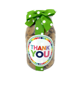 Oh Sugar 10oz Cookie Jar Thank You Small Dot
