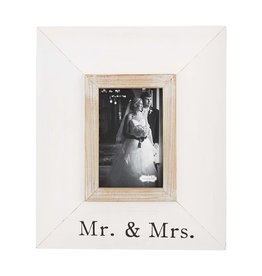 Mud Pie Wide Wood Frame Mr. and Mrs.