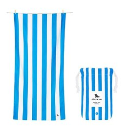 Quick Dry Towel XLG Striped Royal Blue