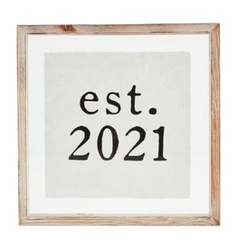 Mud Pie Plaque Est. 2021