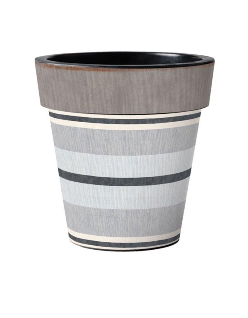 "Art Planter Large 18"" Broad Stripes - Cape"