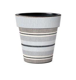 "Art Planter Medium 15""Broad Stripes - Cape"