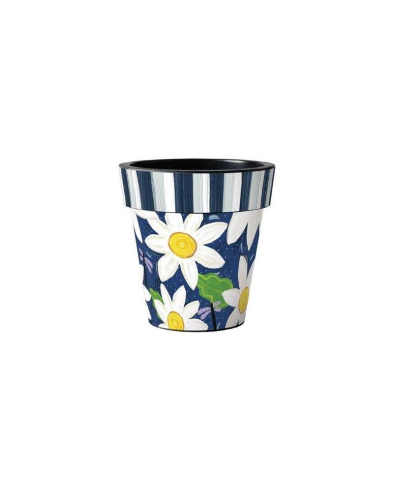 """Art Planter Small 12"""" Daisy Garden Blues"""