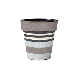 """Art Planter Small 12"""" Broad Stripes - Cape"""