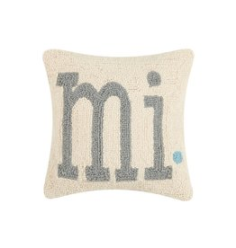 Michigan MI Hook Pillow Square