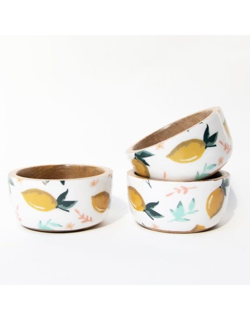 Mary Square Lemon Love Set of 3 Bowls
