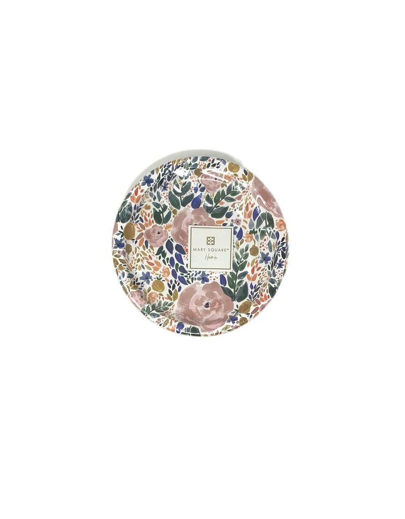 """Mary Square Enchanted Garden Paper Plate 8"""""""