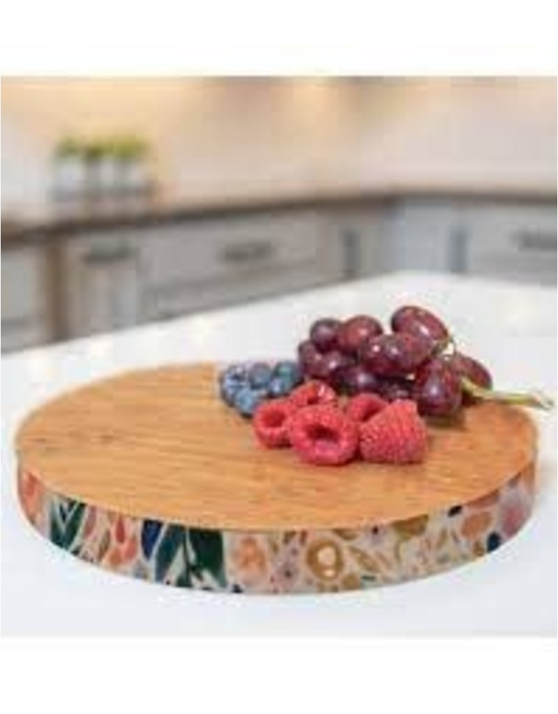 Mary Square Enchanted Garden Round Cutting Board