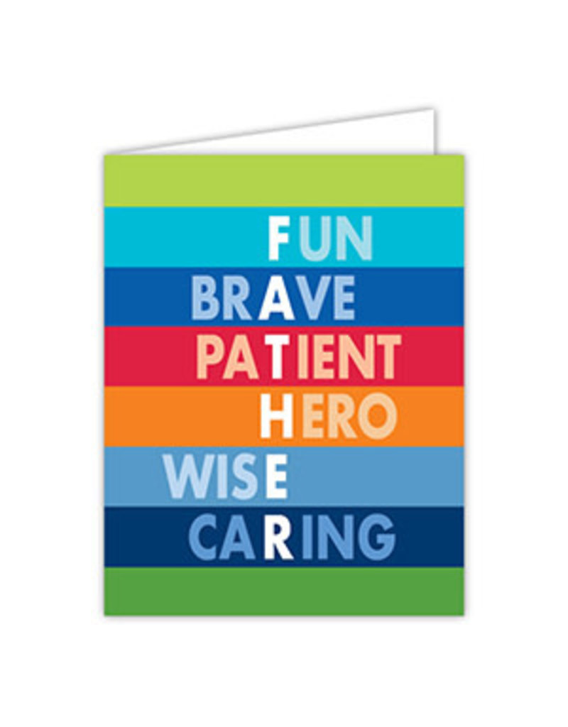Fathers Day Greeting Card- Fun Brave Patient Hero