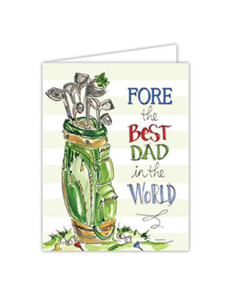 Fathers Day Greeting Card- Fore the Best Dad
