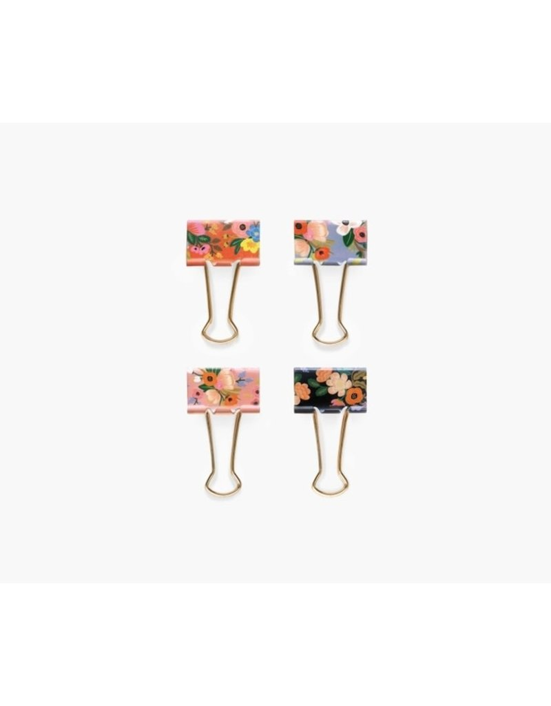 Rifle Paper Co Rifle Binder Clips Lively Floral