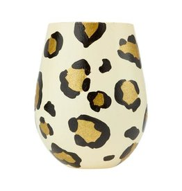 Stemless Wine Leopard