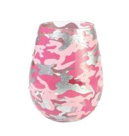 Stemless Wine Pink Camo