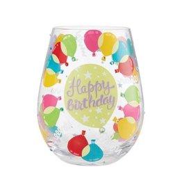 Stemless Wine Glass Birthday Balloons