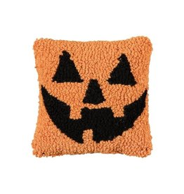 Pillow Small Hooked Jack O Lantern