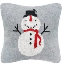 Pillow Small Snowman Grey