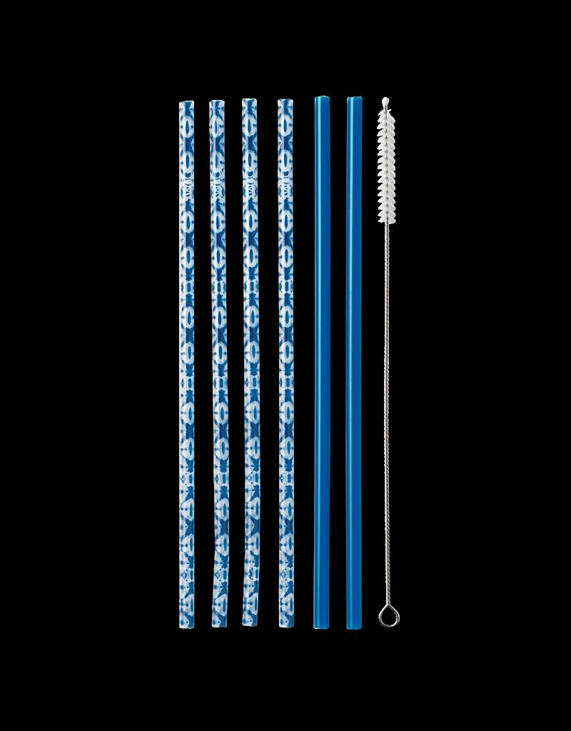 Reusable Straw Set Indigo Isle & Blue