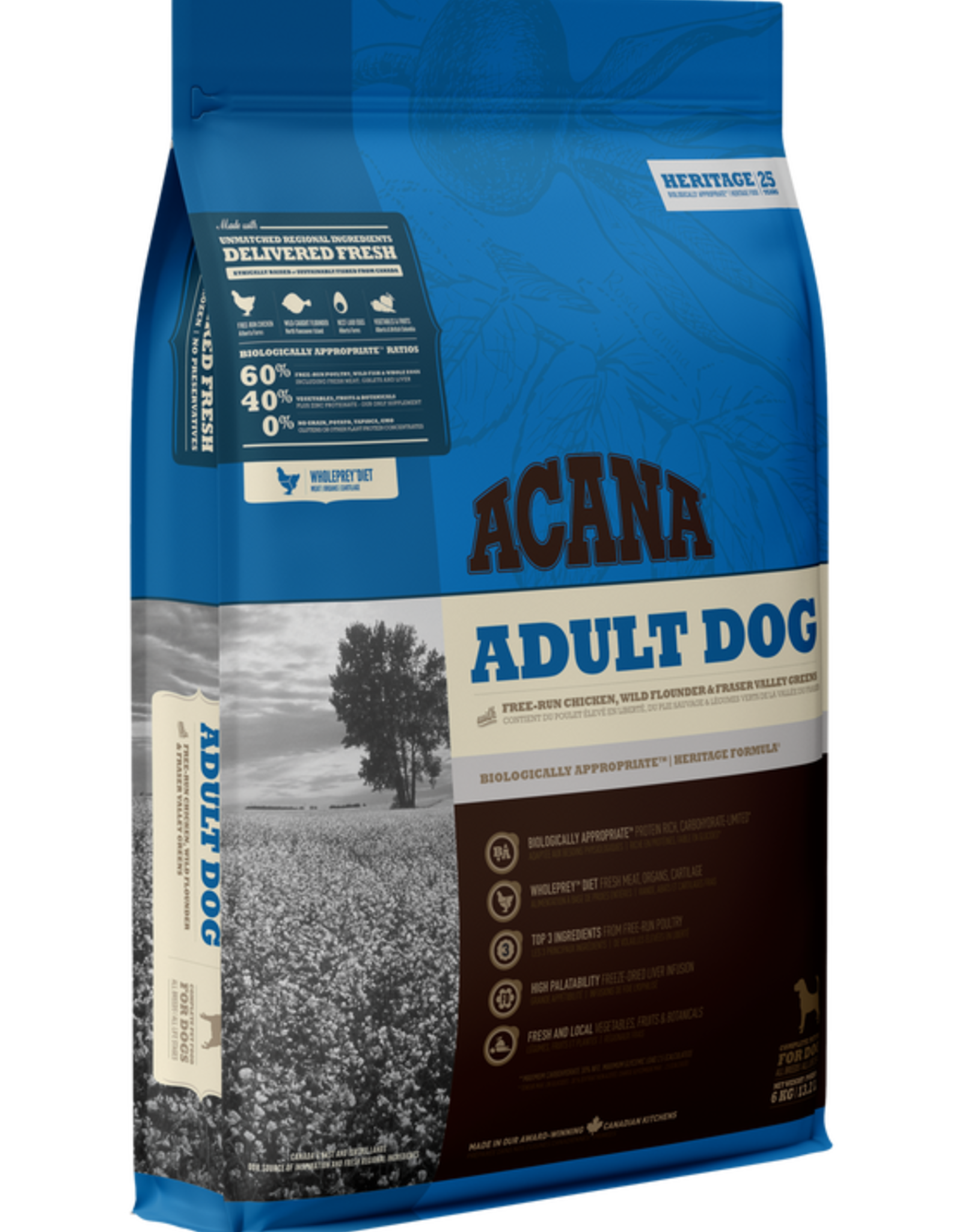 Acana Acana Adult Dog- Chicken Flounder & Greens 6kg