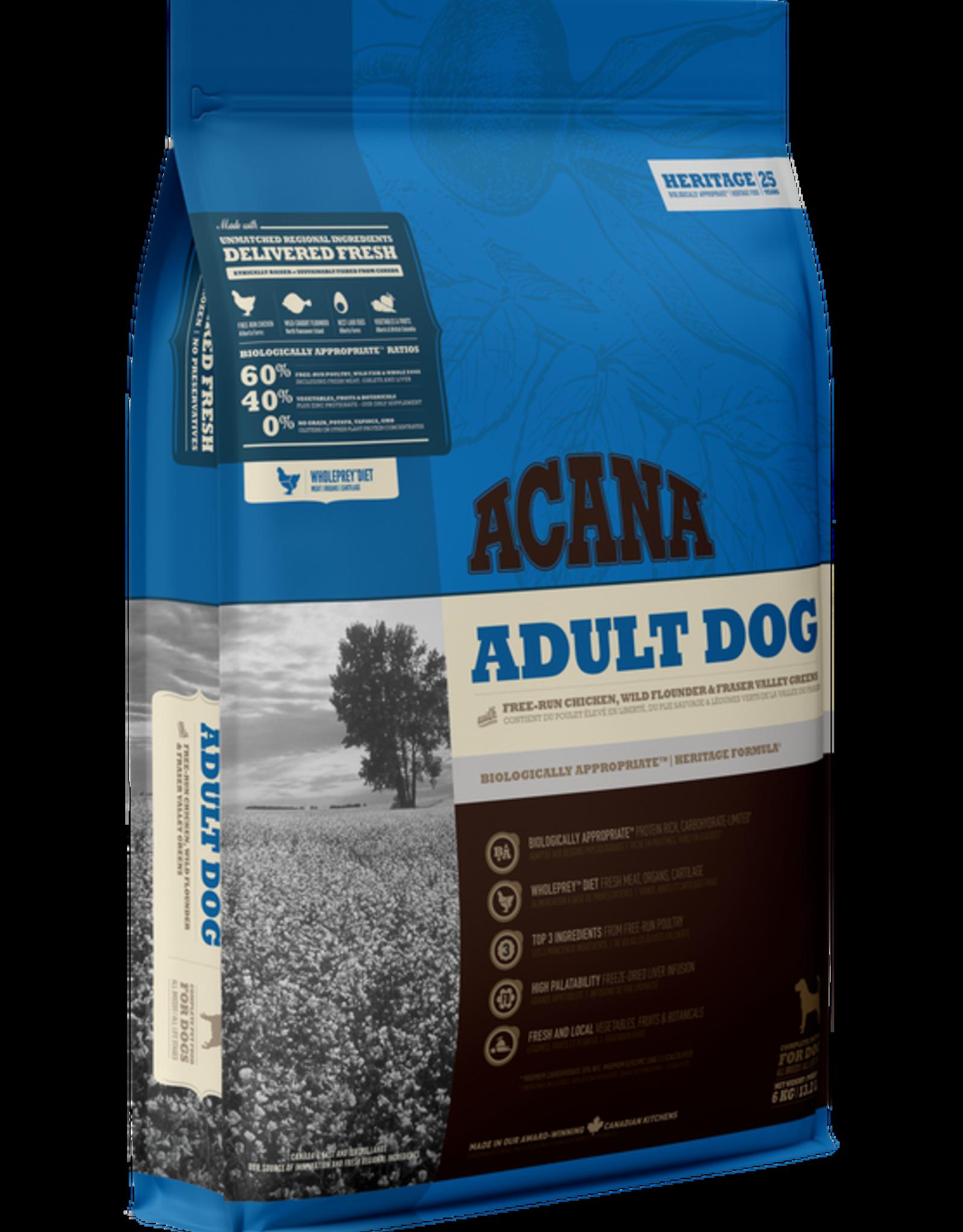 Acana Adult- Chicken, Flounder & Greens 11.4kg