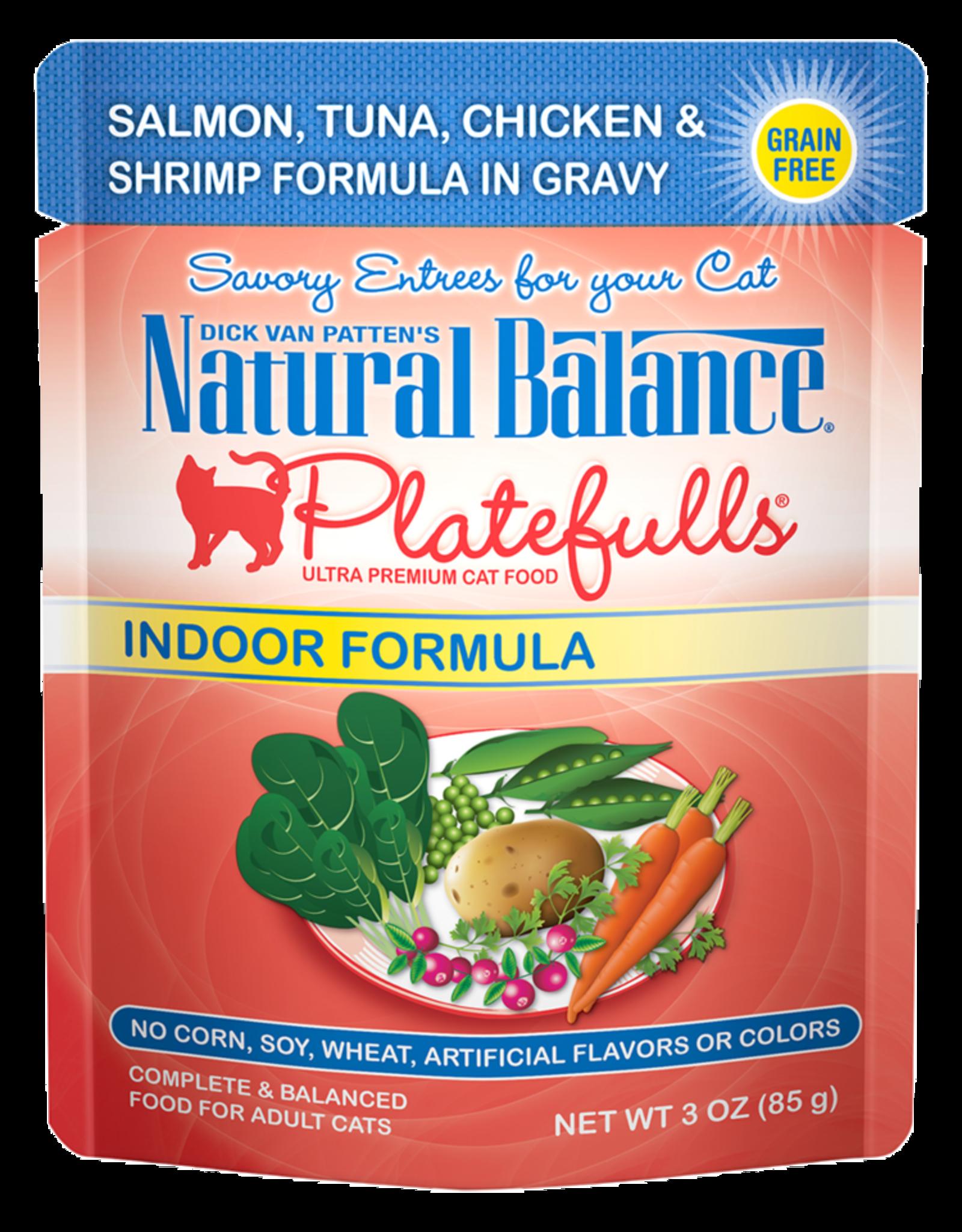 NATURAL BALANCE PET FOODS INC NB Platefulls / Indoor / Salmon, Tuna, Chicken & Shrimp 3oz
