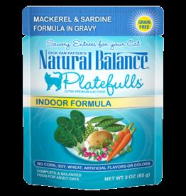 NATURAL BALANCE PET FOODS INC NB Platefulls / Indoor / Mackerel & Sardine 3oz