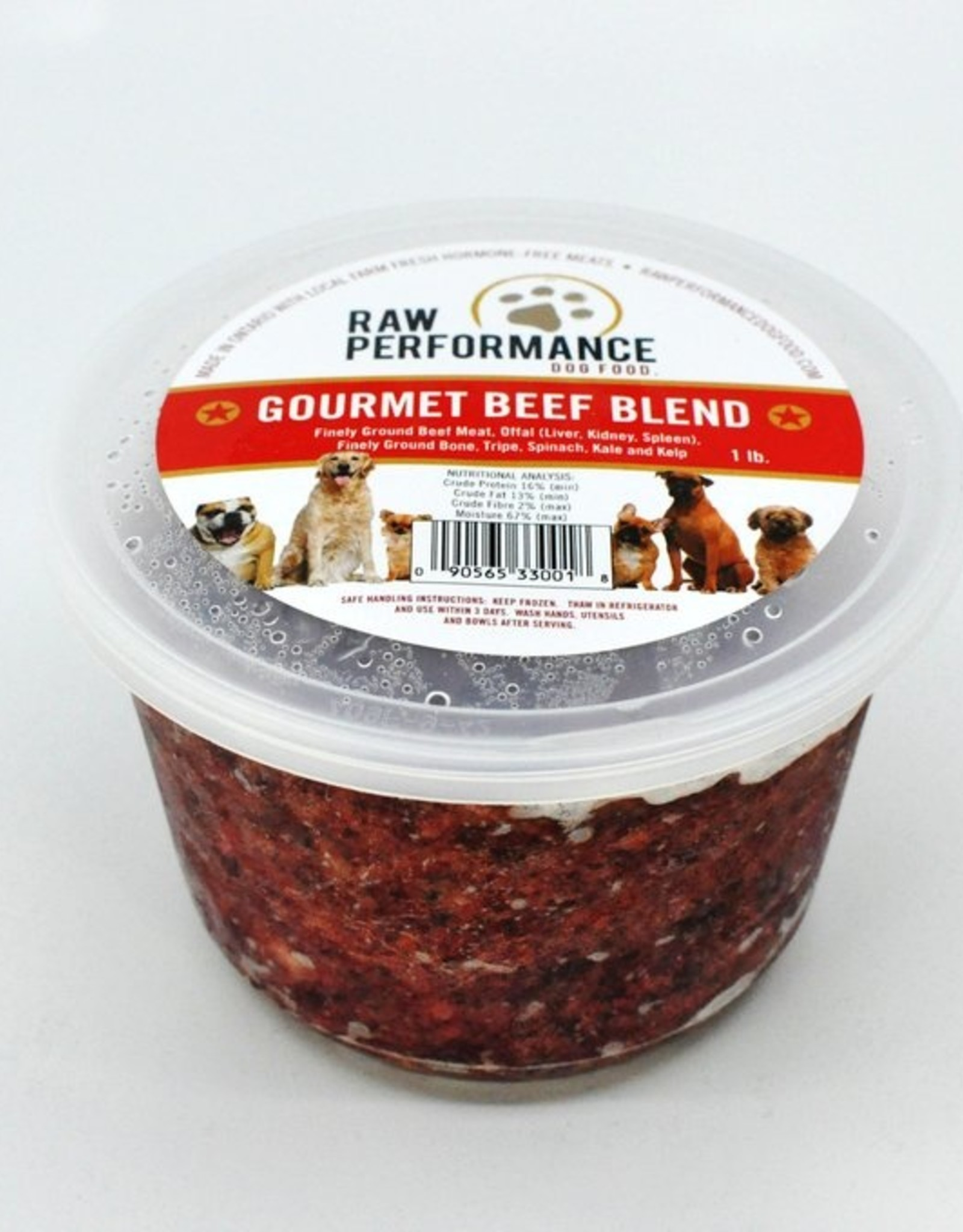 Raw Performance Raw Performance - Gourmet Beef Blend 1lb