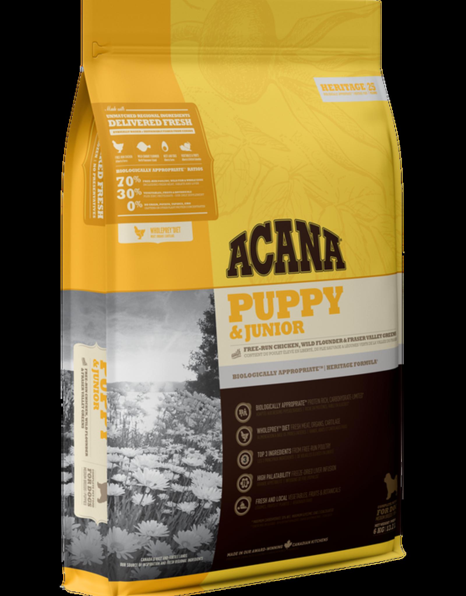 Acana Acana Puppy & Jr-Chicken Flounder & Greens 11.4kg