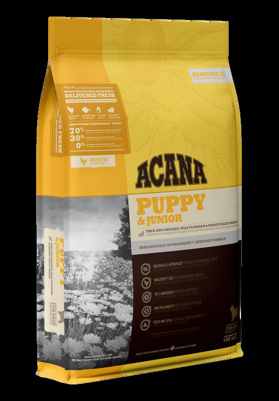 Acana Acana Puppy & Junior - Chicken Flounder & Greens 2kg