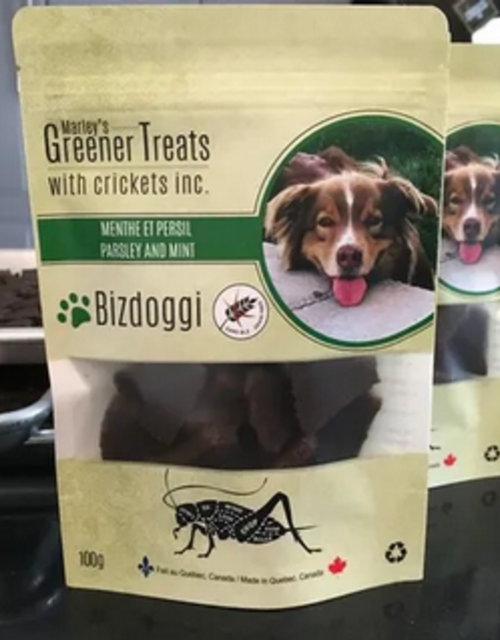 Marley's Greener Treats with Crickets - Parsley and Mint