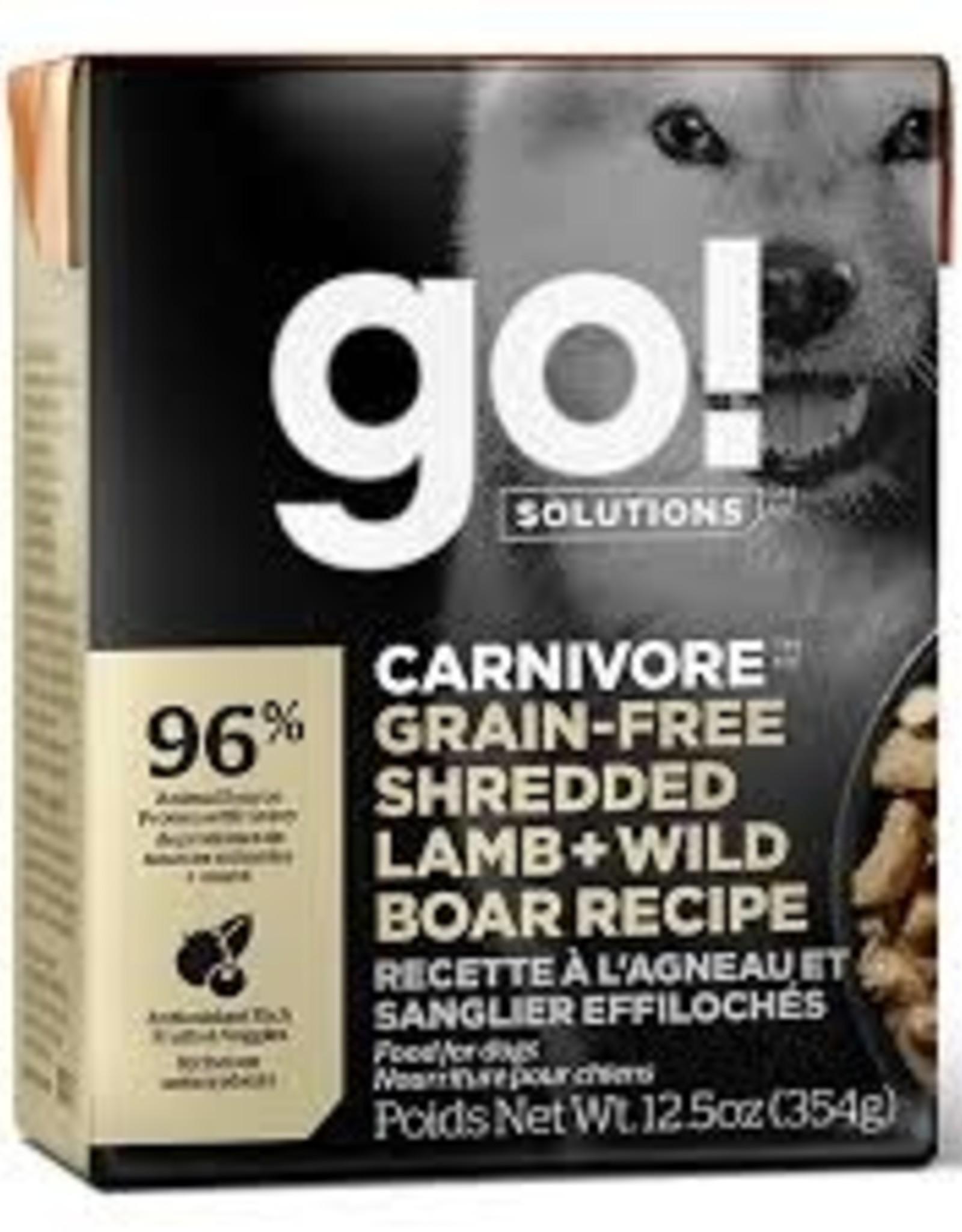 Go Go! Dog Lamb + Wild Boar 12.5 oz