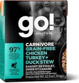 Go Go! Dog Chicken, Turkey + Duck Stew 12.5oz