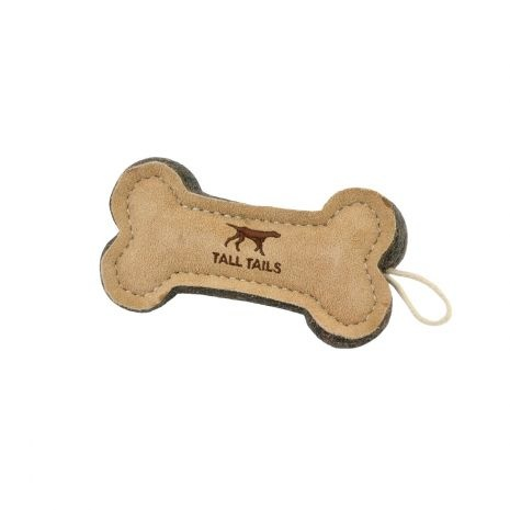 """Tall Tails Tall Tails Natural Leather & Wool Bone 6"""""""