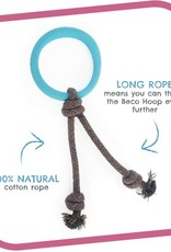 Beco Pets Beco Hoop on a Rope (Large) Blue