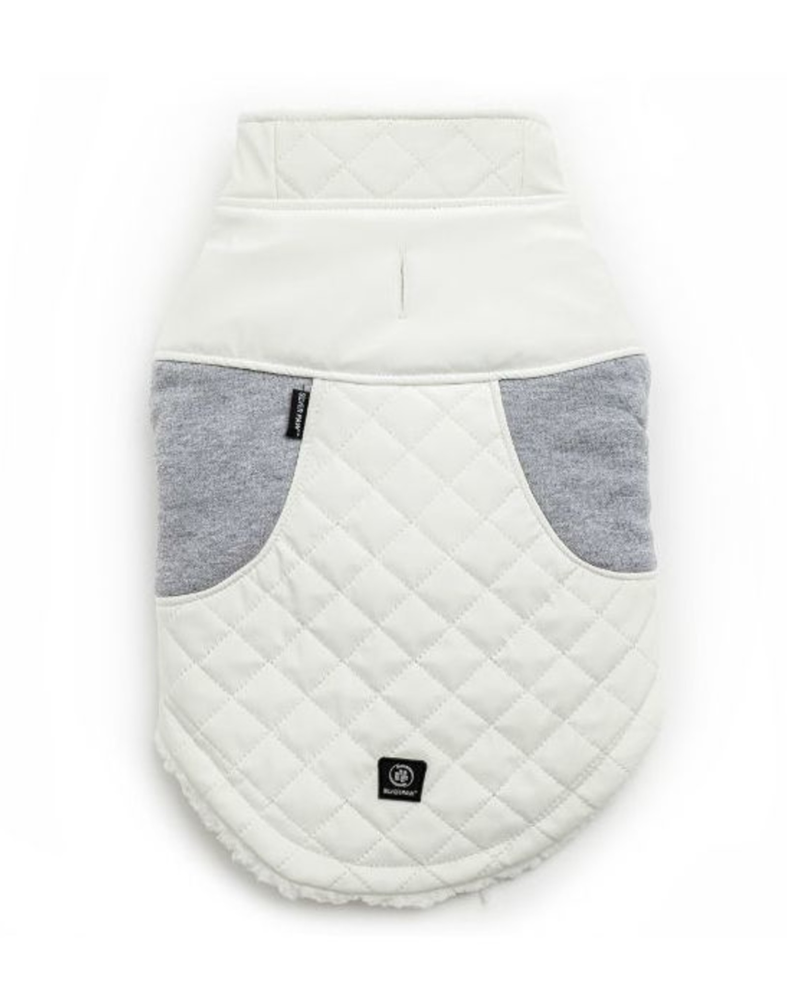 Silver Paw Silver Paw - Quilted Jacket Faux Leather White/Grey XS