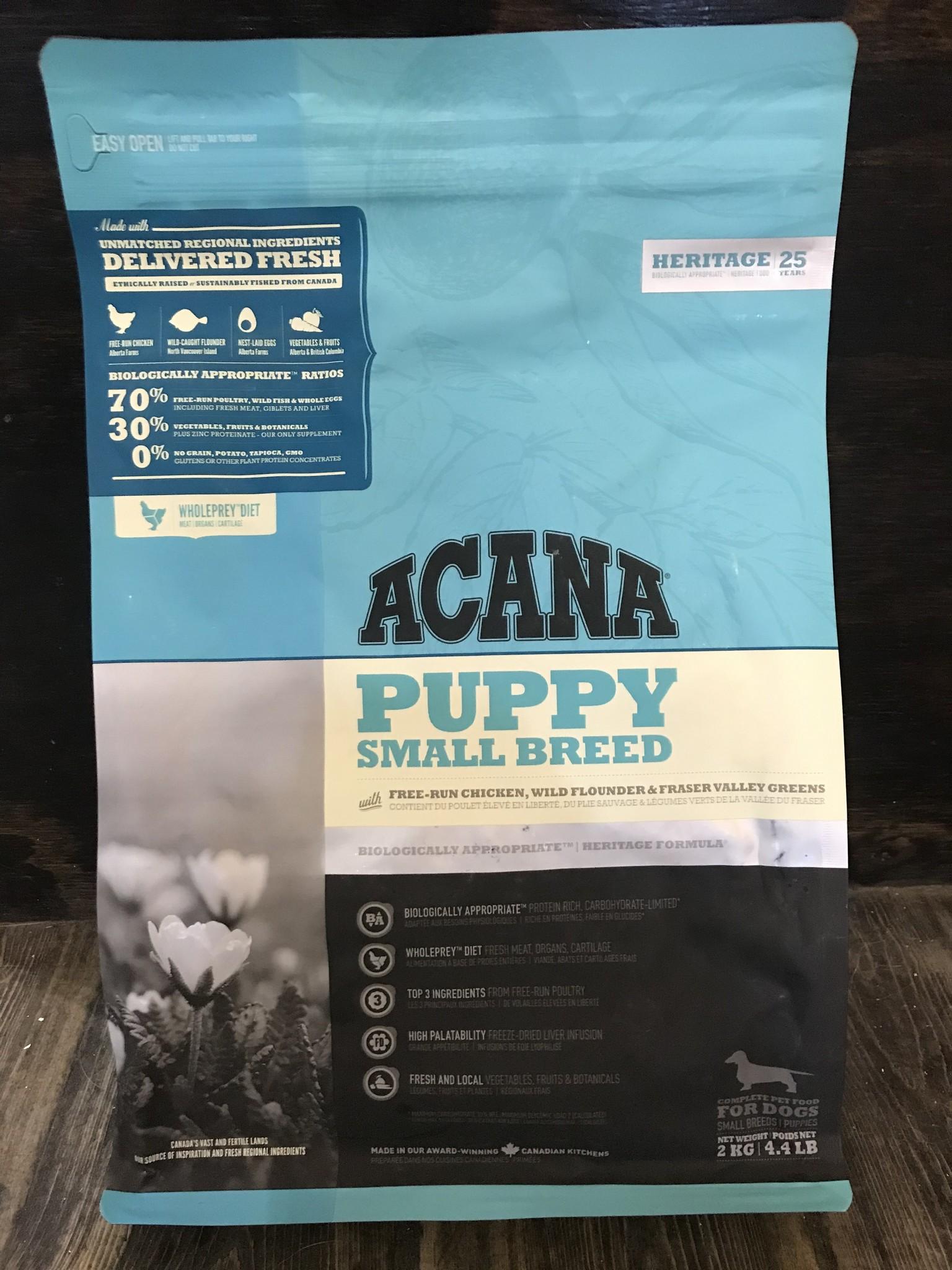 Acana Acana Puppy Small Breed - Chicken Flounder & Greens 2kg