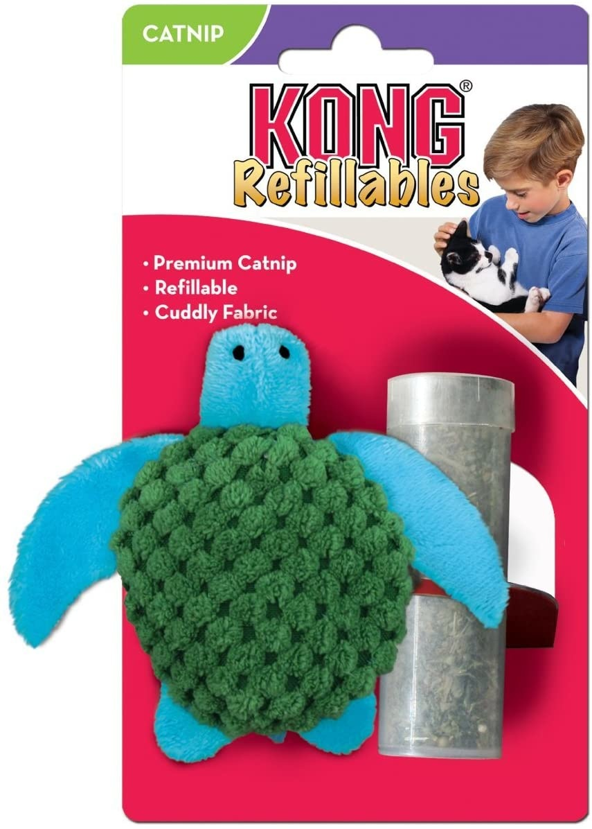 Kong Refillable Catnip Turtle -  Cat