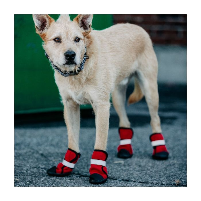 Silver Paw Silver Paw - Easy Fit Neoprene Dog Boots L (Red)