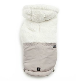 Silver Paw SILVER PAW - Quilted Hoodie Tan - Lrg