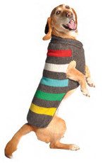 Chilly Dog Clothing Chilly Dog - Charcoal Stripe Wool Sweater S