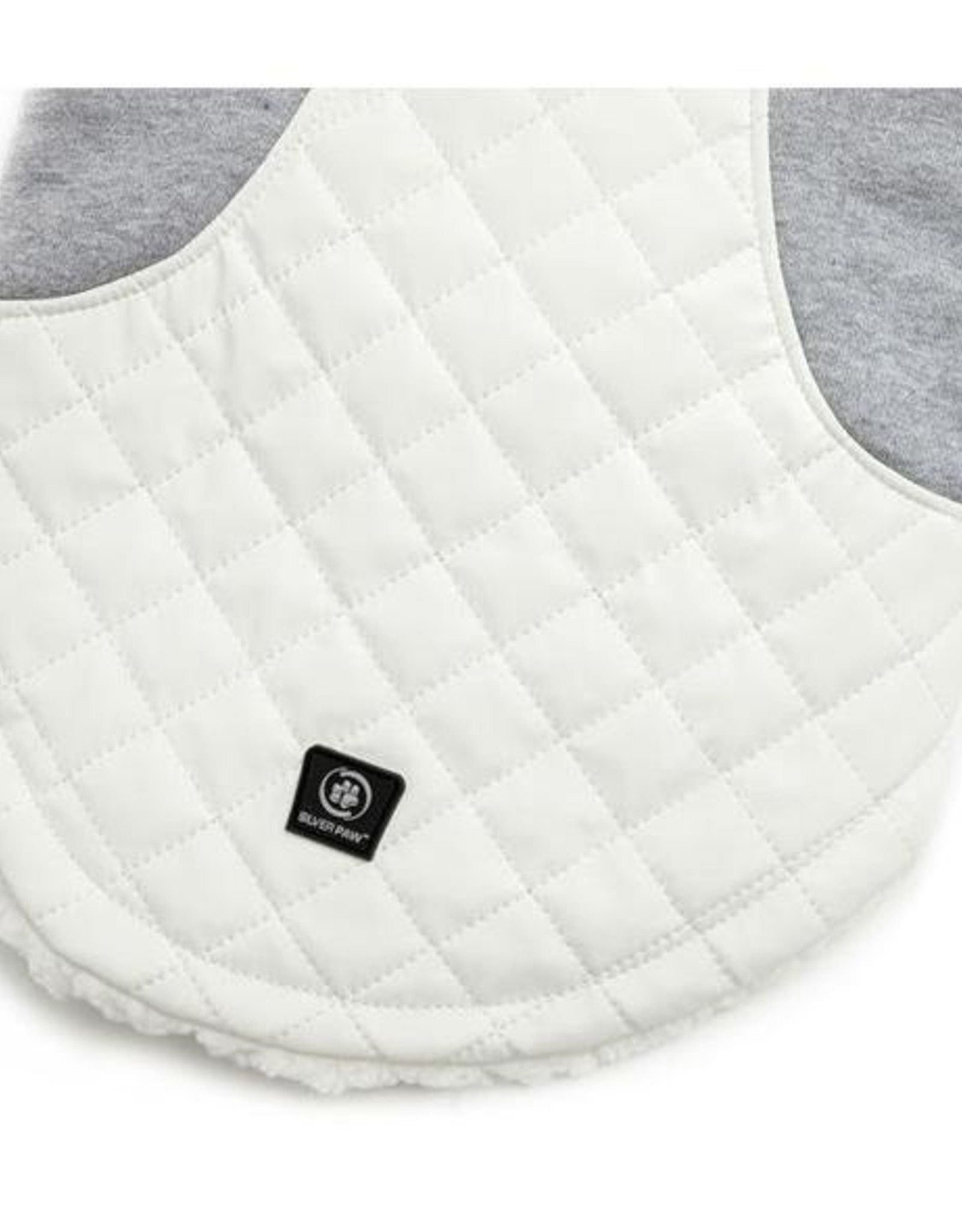 Silver Paw Clothing Silver Paw - Quilted Jacket Faux Leather White/Grey